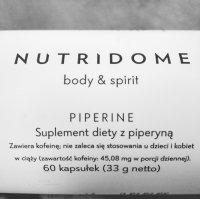 PIPERINE NUTRIDOME - Opinie