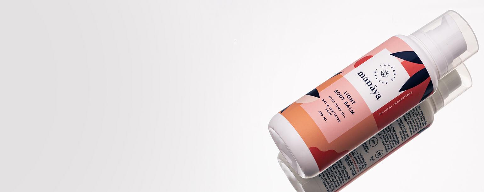 Kompozycja - Lekki balsam do ciała z olejem konopnym Manaya