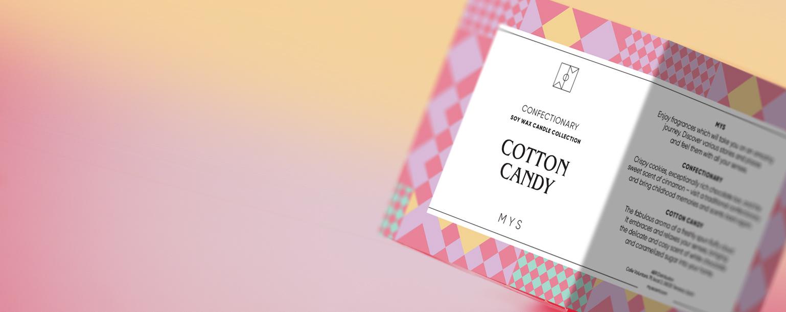 Kompozycja - ŚWIECA SOJOWA COTTON CANDY MYS