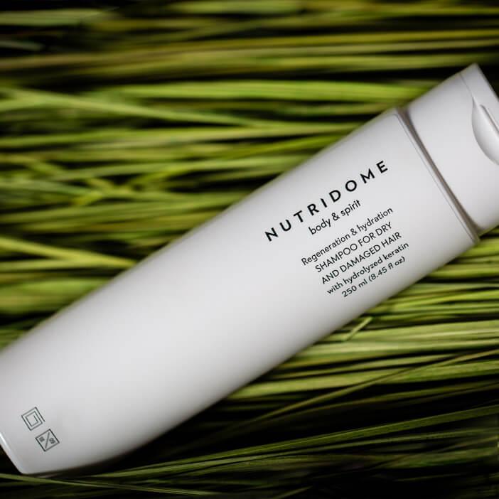 Kompozycja - Szampon do włosów suchych Regeneracja i nawilżenie NUTRIDOME