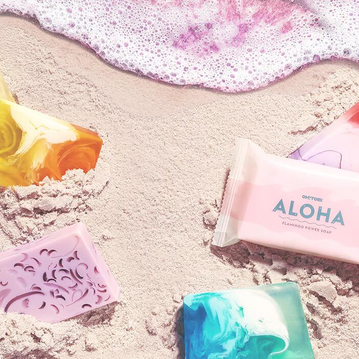 Kompozycja - Mydło w kostce Aloha Oh!Tomi