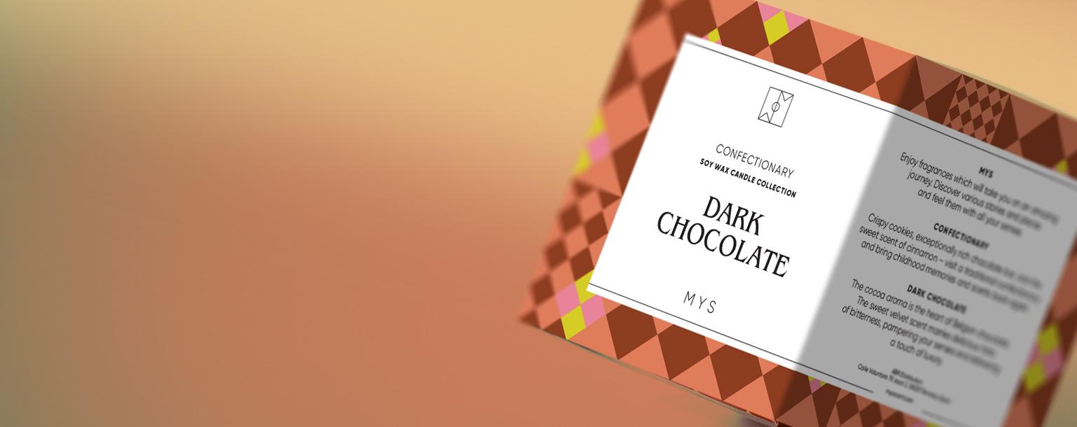 Kompozycja - ŚWIECA SOJOWA DARK CHOCOLATE MYS
